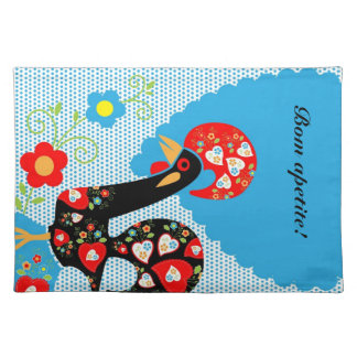 The Portuguese Rooster symbol of Portugal Placemat