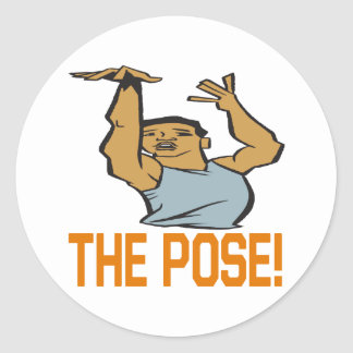The Pose Classic Round Sticker