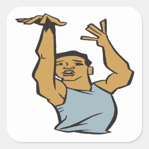 The Pose Square Sticker