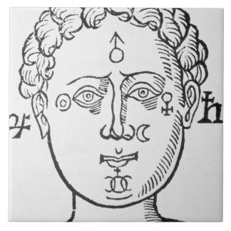 The Position of the Planets in the Human Head, cop Tile