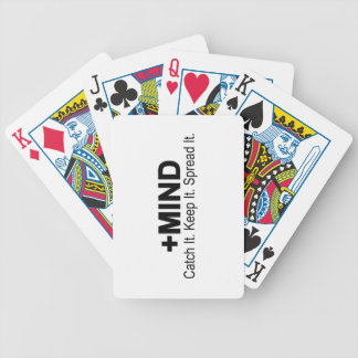 The Positive Mind Catch It. Keep It. Spread It. Bicycle Playing Cards