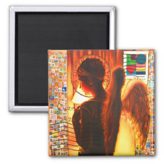 THE POST ANGEL 2 INCH SQUARE MAGNET