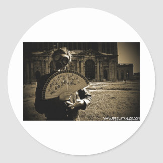 The Post-Apocalyptic Princess by April A Taylor Classic Round Sticker