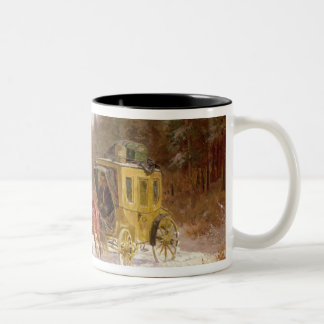 The Post Coach in the Snow Two-Tone Coffee Mug
