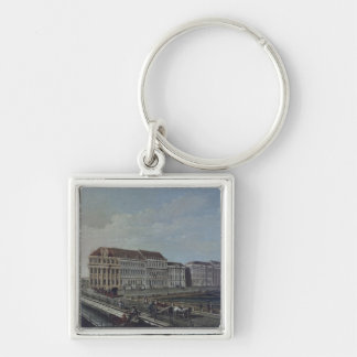 The Post Office in Potsdam, 1784 Silver-Colored Square Keychain
