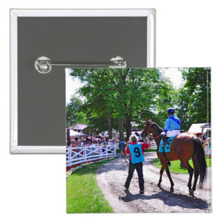 The Post Parade at Saratoga Button
