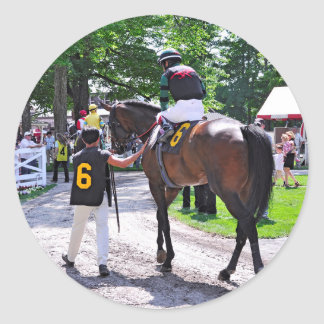 The Post Parade at Saratoga Classic Round Sticker
