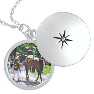 The Post Parade at Saratoga Locket Necklace