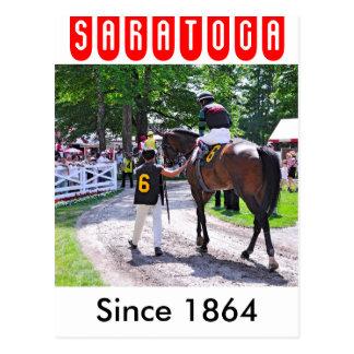 The Post Parade at Saratoga Postcard
