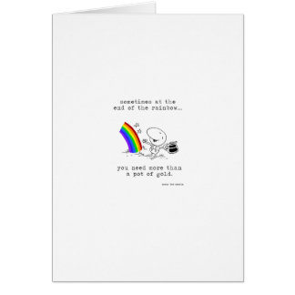 The Pot at the End of the Rainbow Greeting Card