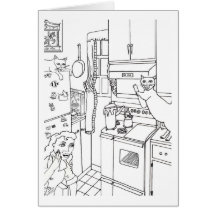 The Pot Boils Over Greeting Card