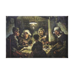 The Potato Eaters, 1885, Van Gogh Stretched Canvas Prints
