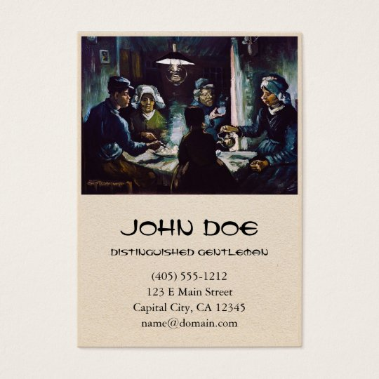 The Potato Eaters by Vincent Van Gogh Business Card