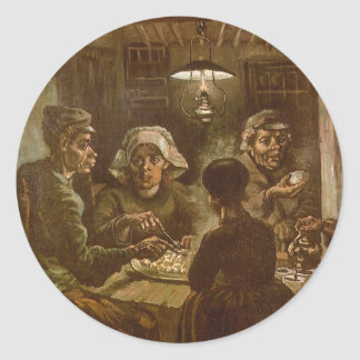 The Potato Eaters by Vincent van Gogh Classic Round Sticker