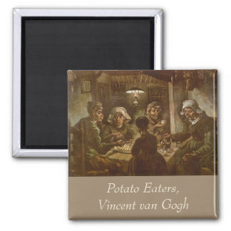 The Potato Eaters by Vincent van Gogh 2 Inch Square Magnet