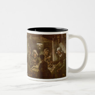 The Potato Eaters by Vincent van Gogh Two-Tone Mug
