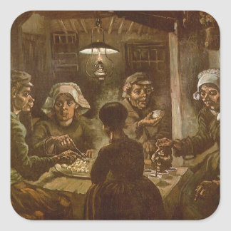 The Potato Eaters by Vincent van Gogh Square Sticker