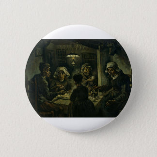 The Potato Eaters Painting Pinback Button