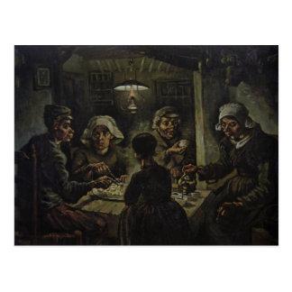 The Potato Eaters Postcard