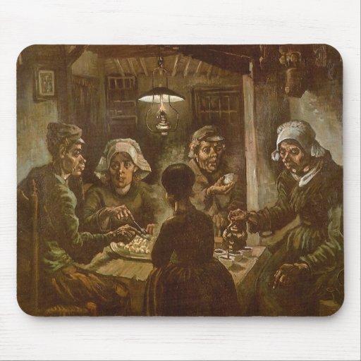 The Potato Eaters, van Gogh, Vintage Impressionism Mouse Pads