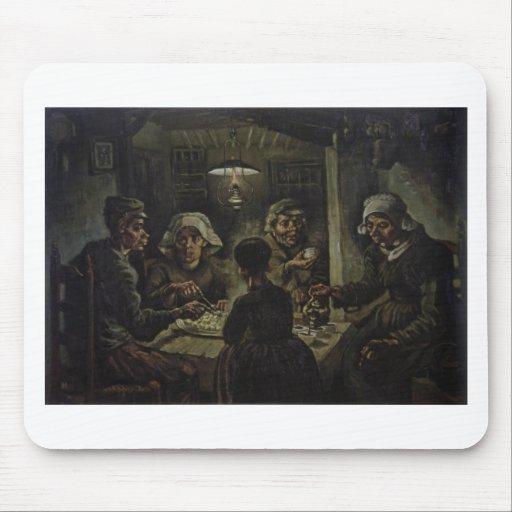 The Potato Eaters - Vincent Van Gogh (1885) Mouse Pad