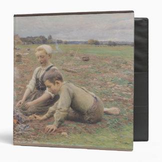 The Potato Gatherers, 1898 3 Ring Binder