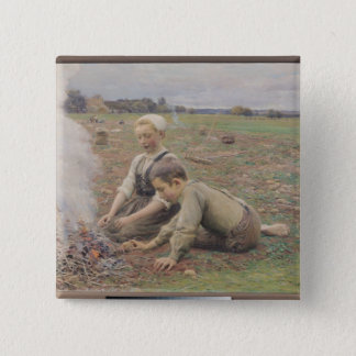 The Potato Gatherers, 1898 Button