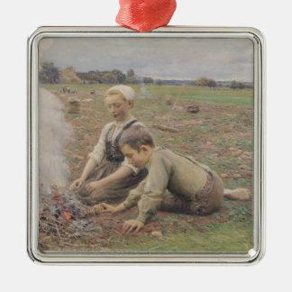 The Potato Gatherers, 1898 Christmas Ornaments