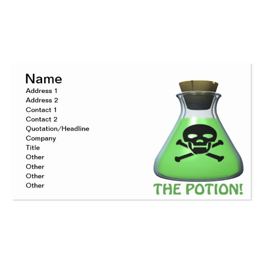 The Potion Business Card Templates