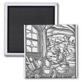 The potter, 1574 refrigerator magnet