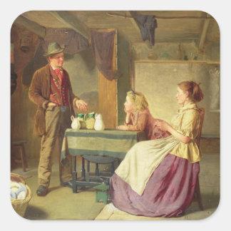 The Potter, 1876 (oil on canvas) Square Sticker
