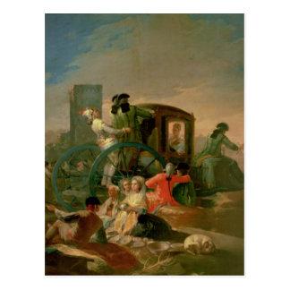 The Pottery Vendor, 1778 Postcard