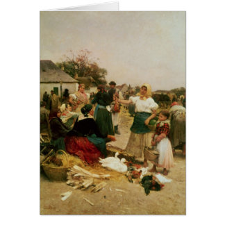 The Poultry Market, 1885 Card