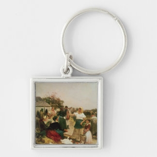 The Poultry Market, 1885 Keychain