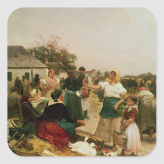 The Poultry Market, 1885 Square Sticker