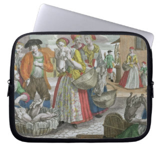 The Poultry Market (coloured engraving) Laptop Sleeve