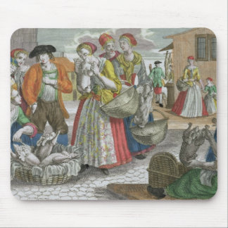 The Poultry Market (coloured engraving) Mouse Pad
