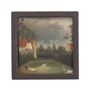 The Poultry Yard by Henri Rousseau Jewelry Box