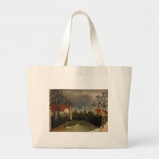 The Poultry Yard by Henri Rousseau Large Tote Bag