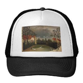 The Poultry Yard by Henri Rousseau Trucker Hat