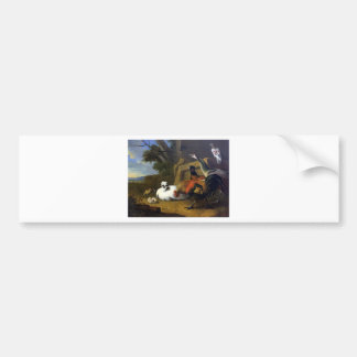 The poultry yard by Melchior d'Hondecoeter Bumper Sticker