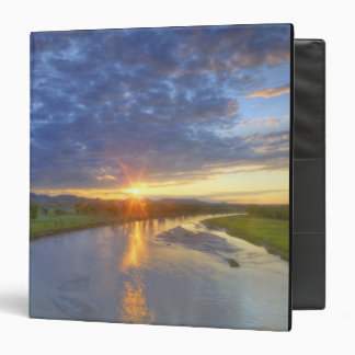 The Powder River catches last light in Custer Binder