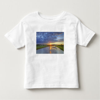 The Powder River catches last light in Custer T-shirt