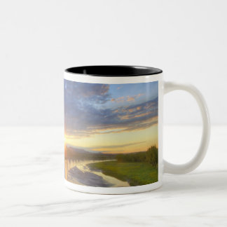 The Powder River catches last light in Custer Two-Tone Coffee Mug