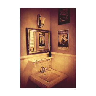 The Powder Room - poster Canvas Print