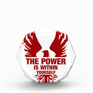 The Power Is Within Yourself - Fire Phoenix Acrylic Award
