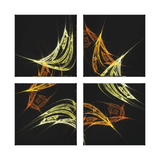 The Power of 3 Abstract Art Quad Canvas Print