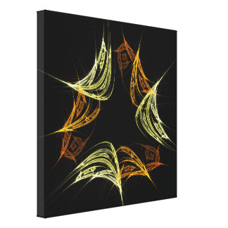 The Power of 3 Abstract Art Wrapped Canvas Print