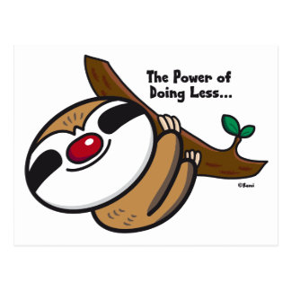 The Power of Doing Less - Sloth Postcard