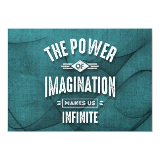 The Power Of Imagination - Motivational Quotes. Card
